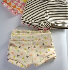 Need to learn how to make these bitty shorts. Way too cute!