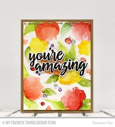 RejoicingCrafts: MFT Watercolor Flowers, Written in Watercolor Stamp sets. #mftstamps