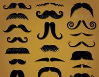 Moustache Custom Shapes for Photoshop and Illustrator