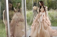 There are few things that I love more than a beautiful, full dress in or near a field. vera wang.
