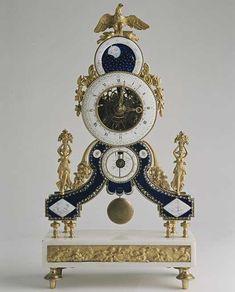 "skeletonized"" the Louis the XVI ERA France around Ziffbl sign .- ""Lepine an à Paris You"" gilt bronze, marble Communities white, ENAMEL. Antique Mantle Clock, Antique Clocks, Clocks For Sale, Cool Clocks, Skeleton Clock, Luis Xvi, Classic Clocks, Clock Shop, Pendulum Clock"