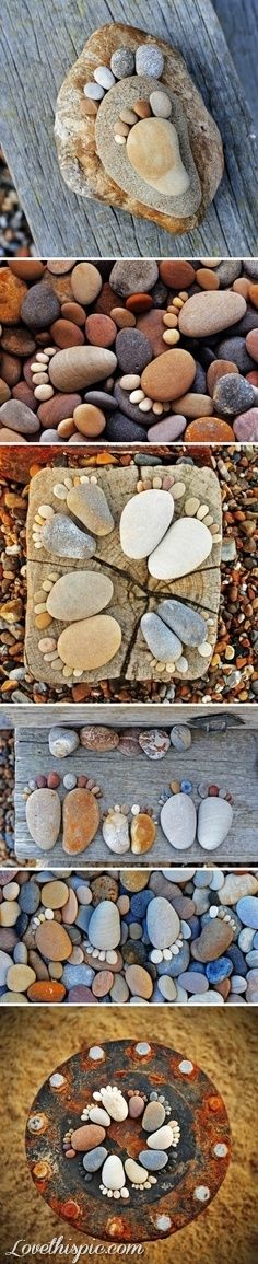 Garden feet rocks garden gardening garden decor garden ideas garden art. doing this when older.