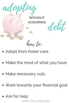 How to adopt without acquiring debt! 5 practical ways you can find the finances for adoption!