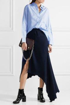 MM6 Maison Margiela - Striped Cotton-poplin Shirt - Sky blue - IT40