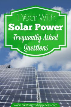 If you've ever thought about making the change to solar electricity check this out. One family's real life experience with solar.