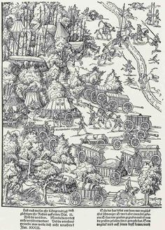 1542 Lucas Cranach the Younger - Block 5 The Siege of Wolfenbüttel | Stockholm, National Gallery Prints and Drawings
