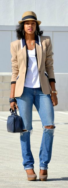 Layering Blazers + The Fedora / Honey In My Heels