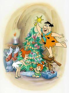 A Flintstone Christmas Classic Cartoon Characters, Cartoon Tv, Classic Cartoons, Vintage Cartoon, Christmas Cartoons, Christmas Movies, Christmas Art, Vintage Christmas, Family Christmas