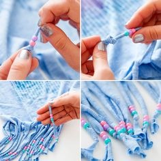 Festival Style Hack: How to Dye, Bead and Fringe Your T-Shirts via Brit + Co.