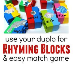 Language Activity of the Week: Duplo Rhyming Game  - pinned by @PediaStaff – Please Visit ht.ly/63sNtfor all our pediatric therapy pins