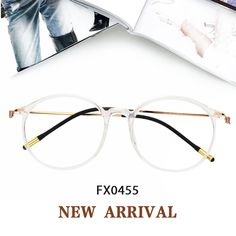 412c8d40f94 Eileen Round Crystal Glasses FX0455-01 Prescription Glasses Online