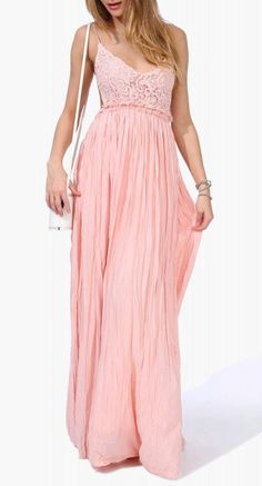 Sway Maxi Dress in Neon orange