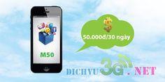 Các bạn có thể lựa chọn gói cước M50 để đăng ký 3g Mobifone sử dụng internet hàng tháng chỉ với 50k thôi. Gói cước M50 thuộc gói cước tầm trung mà Mobifone đưa ra trong năm nay, dung lượng sử dụng không quá nhiều nhưng cũng không quá thấp. Chi tiết về gói cước M50 mời bạn xem hướng dẫn sau đây để biết cách dang ky 3g mobifone goi cuoc 50k.