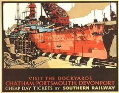 1930's Southern Railway Royal Navy by VintagePosterShopUK on Etsy