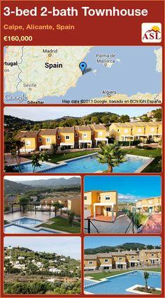 3-bed 2-bath Townhouse in Calpe, Alicante, Spain ►€160,000 #PropertyForSaleInSpain