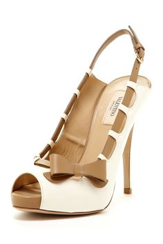 Valentino Side Bow Peep Toe Pump on HauteLook