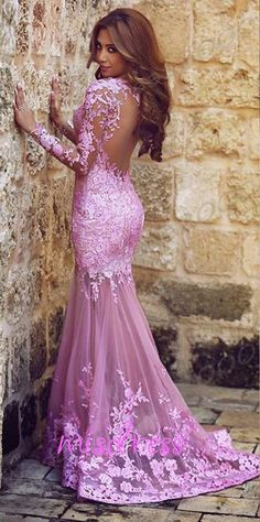 1,please tell us which color you want when you place an order,pink or lilac;  We would offer free custom size and custom color service.  @About this dress Fabric: lace Color: lilac/pink Back Details:see-through Length:Floor-length   @About measurement Firstly, you may choose the standa...