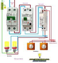 Esquemas eléctricos: telerruptor bipolar