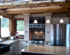 Kitchen ideas for log homes rustic-kitchen