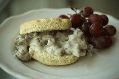 Gluten-Free Biscuits & Gravy from Hello Gluten Free