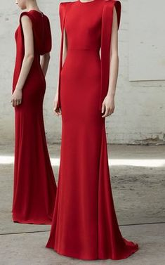 Alex Satin Draped Gown by Alex Perry