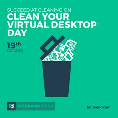 Succeed at cleaning on Clean Your Virtual Desktop Day! All icons used in the series are available in our App. Imagine what YOU could create with them!  Check out our FUTURAMO ICONS – a perfect tool for designers & developers on futuramo.com #futuramo  #futuramoapps  #futuramoicons  #futuramocalendar #icondesign  #icons  #iconsystem  #pixel #pixelperfect  #flatdesign  #ux  #ui  #uidesign  #design #developer  #webdesign  #app  #appdesign #graphicdesign