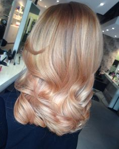 Image result for blonde rose gold balayage