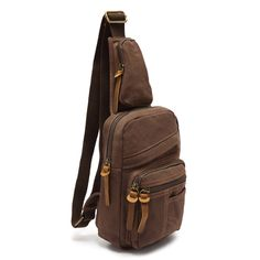 Amazon.com: EcoCity Men's Canvas Cross Body Chest Pack Chest Bag (Coffee): Clothing