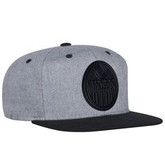 Men s Edmonton Oilers adidas Gray Black Two-Tone Tonal - Snapback  Adjustable Hat 7d392882ba0