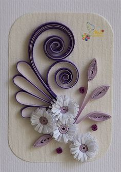 DAYDREAMS: Twenty fifth wedding anniversary quilled card. Quilling Birthday Cards, Paper Quilling Cards, Paper Quilling Flowers, Paper Quilling Patterns, Neli Quilling, Quilling Work, Quilling Paper Craft, Quilling Flowers Tutorial, Paper Quilling For Beginners