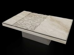 Alexandria Console Entry Table Beige Travertine Furnishings - Travertine coffee table