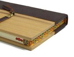 Handbound Brown Leather Journal Book with by ArteOfTheBooke, $105.00
