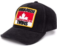Twins Baseball, Baseball Cap, Dsquared2, Black Cotton, Women Wear, Fashion Design, Caps Hats, Blue Prints, Baseball Hat