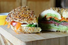 Best Veggie bagel sandwich!!!