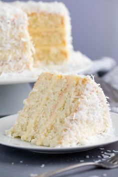 Suitable for cupcakes - This Coconut Cake Recipe is made from scratch and full of bold coconut flavor and topped off with a coconut cream cheese frosting. This is the kind of cake that will wow everyone in the room! Food Cakes, Cupcake Cakes, Muffin Cupcake, Baking Recipes, Snack Recipes, Dessert Recipes, Top Recipes, Recipies, Vegan Recipes
