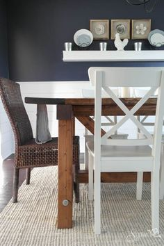 Farmhouse Table and Dining Room Makeover