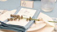 Minuta boda romántica azul