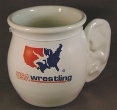 Sweet Cauliflower ear mug from USA Wrestling at....  http://www.usawrestlingproducts.com/USAW_Cauliflower_Ear_Mug_p/99036.htm