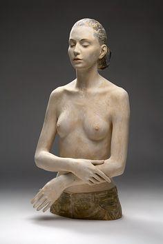 """""""Non chiedermi perché"""" wood sculpture -- by Bruno Walpoth"""