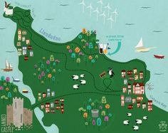 Wales - Colwyn Bay and beyond by Tiger Tea Illustration
