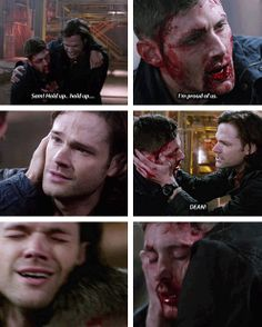 [gifset] 9x23 Do You Believe In Miracles #SPN #Dean #Sam sooooo many remnants of season 2. Can nobody touch me forever?