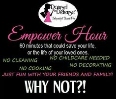 Host a Facebook/online party from anywhere in the USA and receive free and half-priced items to keep you Safe and Sassy!  I welcome you to contact me with any questions ~ Karen Hudak ~ Independent Damsel Pro Director ~ http://www.mydamselpro.net/khudak ~ facebook.com/nepa.damsel  ~ mailto:nepa.damsel@yahoo.com