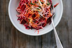 celeriac + beet salad with lemon, chilli + mint by My Darling Lemon Thyme, via Flickr