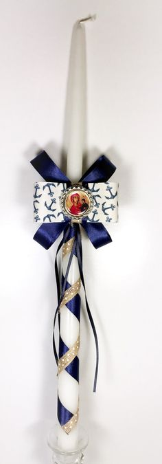 Anchor Greek Easter Candle (Lambatha) by EllinikiStoli on Etsy https://www.etsy.com/listing/498798578/anchor-greek-easter-candle-lambatha