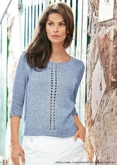 "Фотки Sommer Photo from album ""Junghans-Wolle"" on Yandex. Sweater Knitting Patterns, Cardigan Pattern, Lace Knitting, Knitting Designs, Knit Patterns, Knit Crochet, Knit Fashion, Fashion Fabric, Bolero"