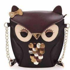 Cute Bucket Shape Owl Shoulder Bag