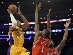 (+VIDEO) #Rockets vencen a Lakers en regreso de Kobe Bryant