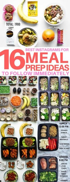 I am SO glad I found these meal prep ideas! I followed all the Instagram accounts - they are AMAZING! meal prep ideas, clean eating, healthy recipes, weight loss