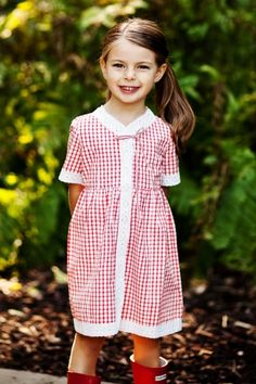 Oilily Darling Red Check Dress
