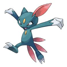 Sneasel - 215 - It feeds on eggs stolen from nests. Its sharply hooked claws rip vulnerable spots on prey. Its paws conceal sharp claws. If attacked, it suddenly extends the claws and startles its enemy.  @PokeMasters